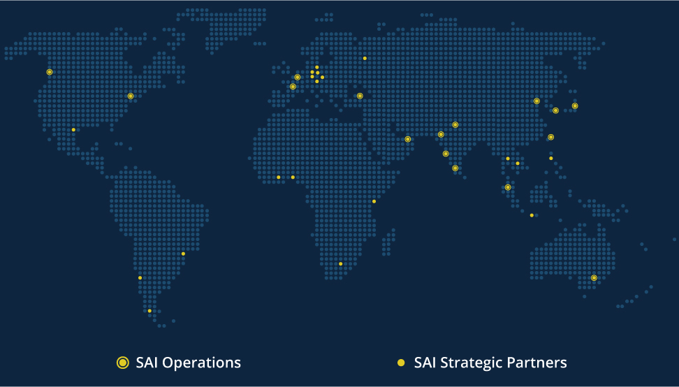 SAI InfoComm locations map