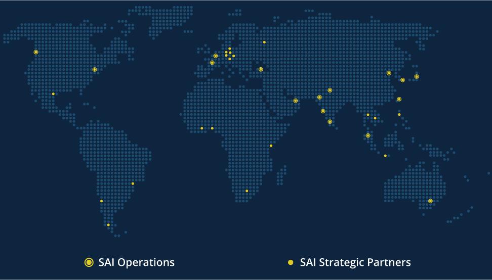 SAI InfoComm locations map